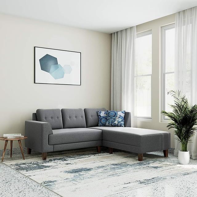 5. Amazon Sofa - Solimo Alen Five Seater RHS L Shape Sofa Set For Living Room