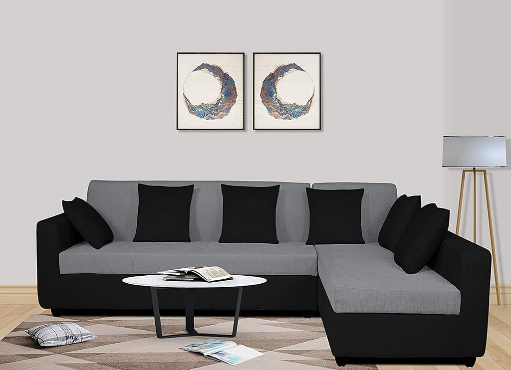 2. Adorn India Rio L Shape 5 Seater corner Sofa Set For Living Room