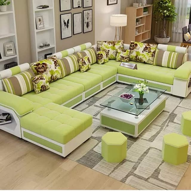 9. Zikra Dapper U Shape Sectional couch for front space