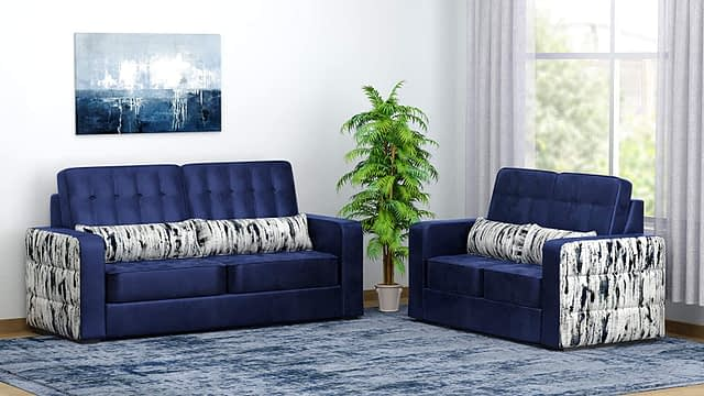 ZREMBLE 5 Seater 3 +2 Solid Wood Super-soft Foam couch Sets for lounge