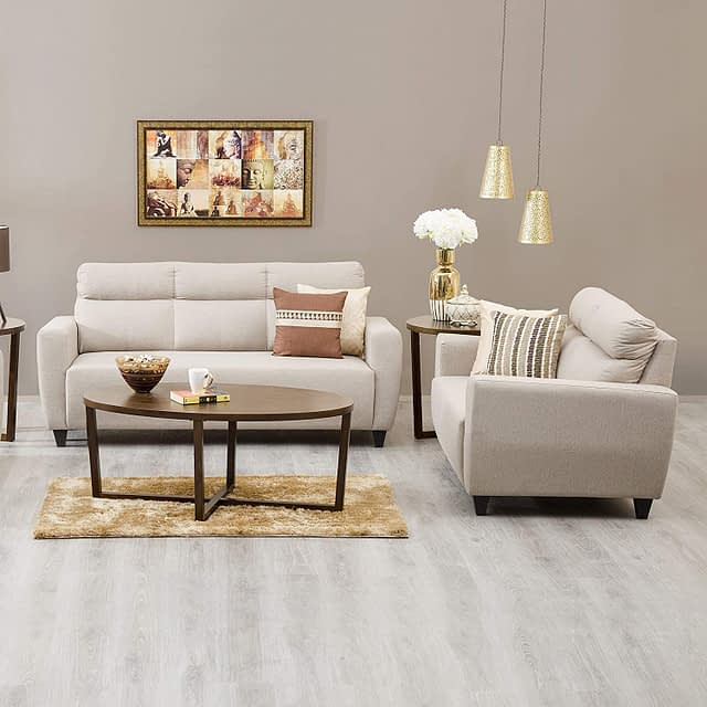 Home Centre Emily Fabric 5 Seater Sectional Sofa Set