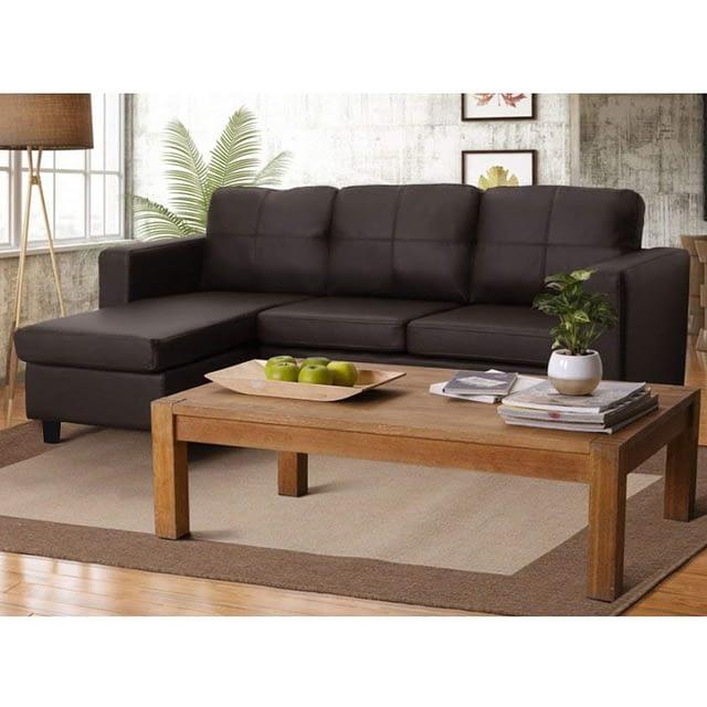 CasaStyle 3+1 Ottoman Leatherette L Shape Sofa Set for Living Room