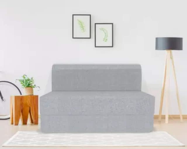 1.Coirfit Jute Fabric Washable Cover 3 Seater Folding Sofa Cum Bed