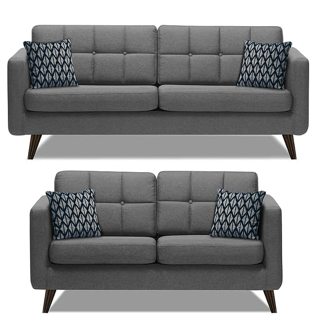 12.SofaArchitect Chilly 5 Seater 3+2 Fabric couch for front room